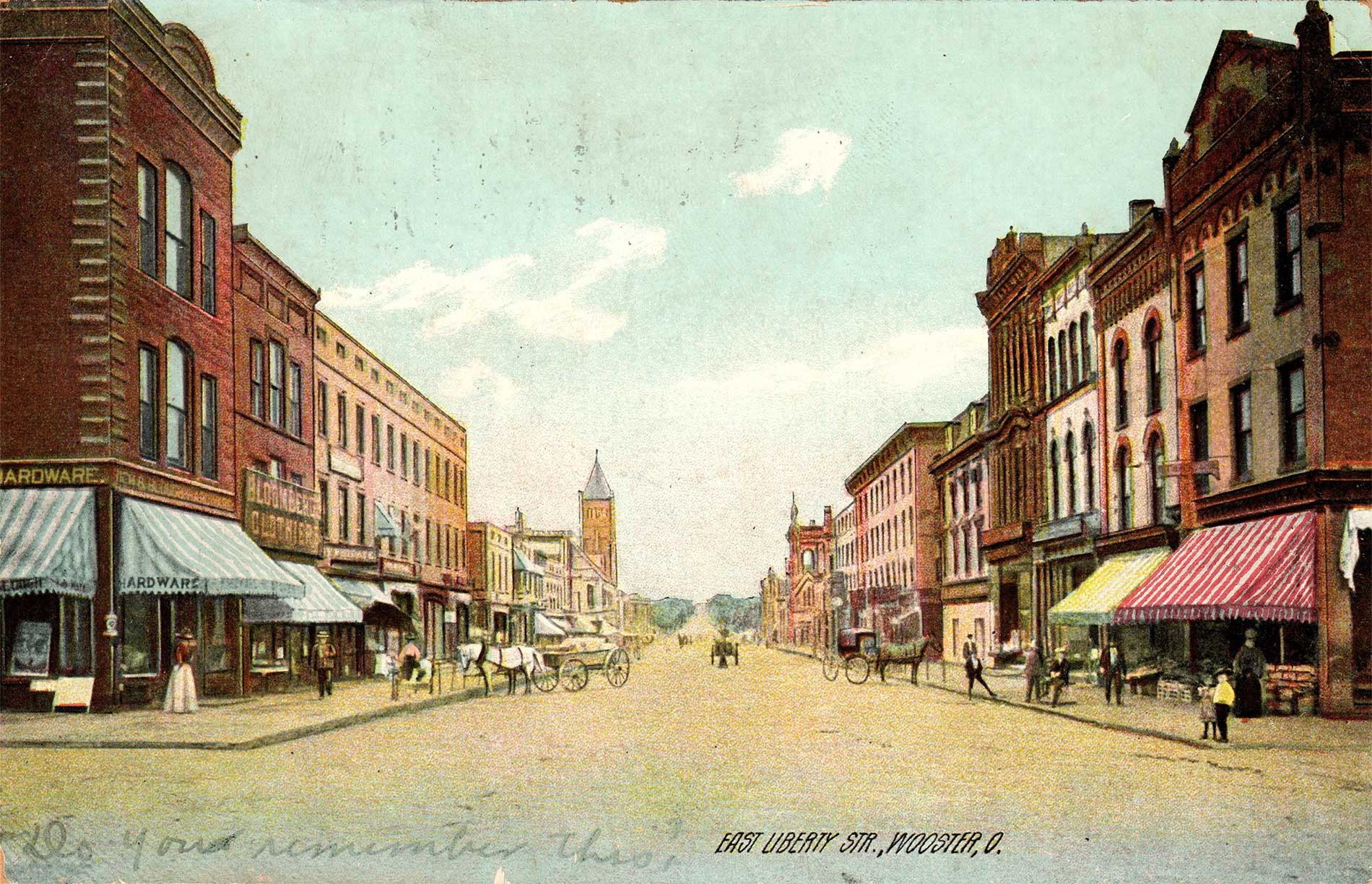 fig. 3 _ East Liberty Street looks much today as it did in this early 20th century view
