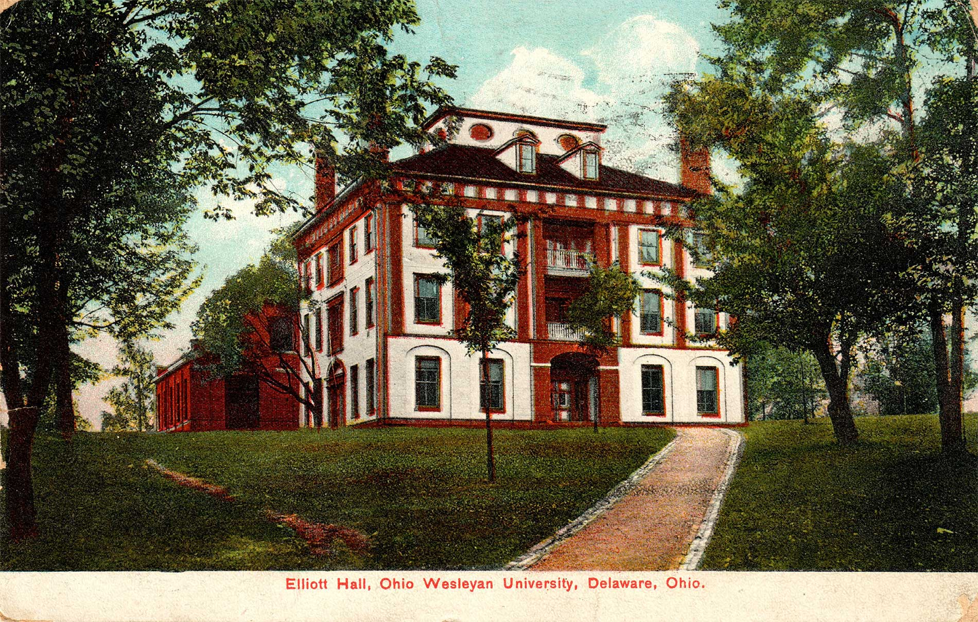 fig. 1 _ The 1833 Mansion House hotel — now part of Ohio Wesleyan University