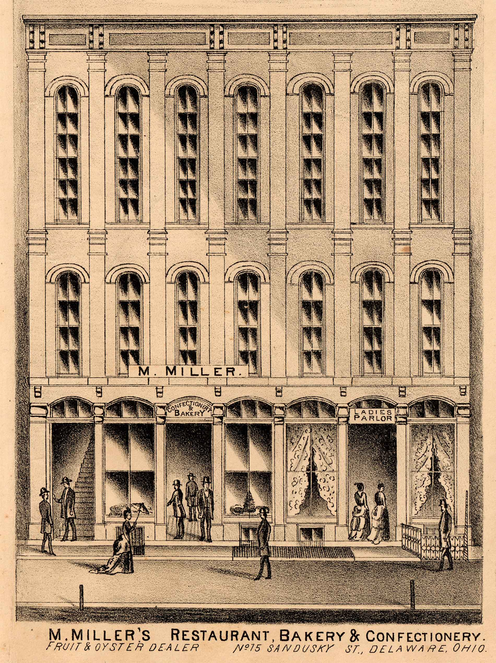 fig. 7 _ Commercial building on North Sandusky Street from a 19th century atlas