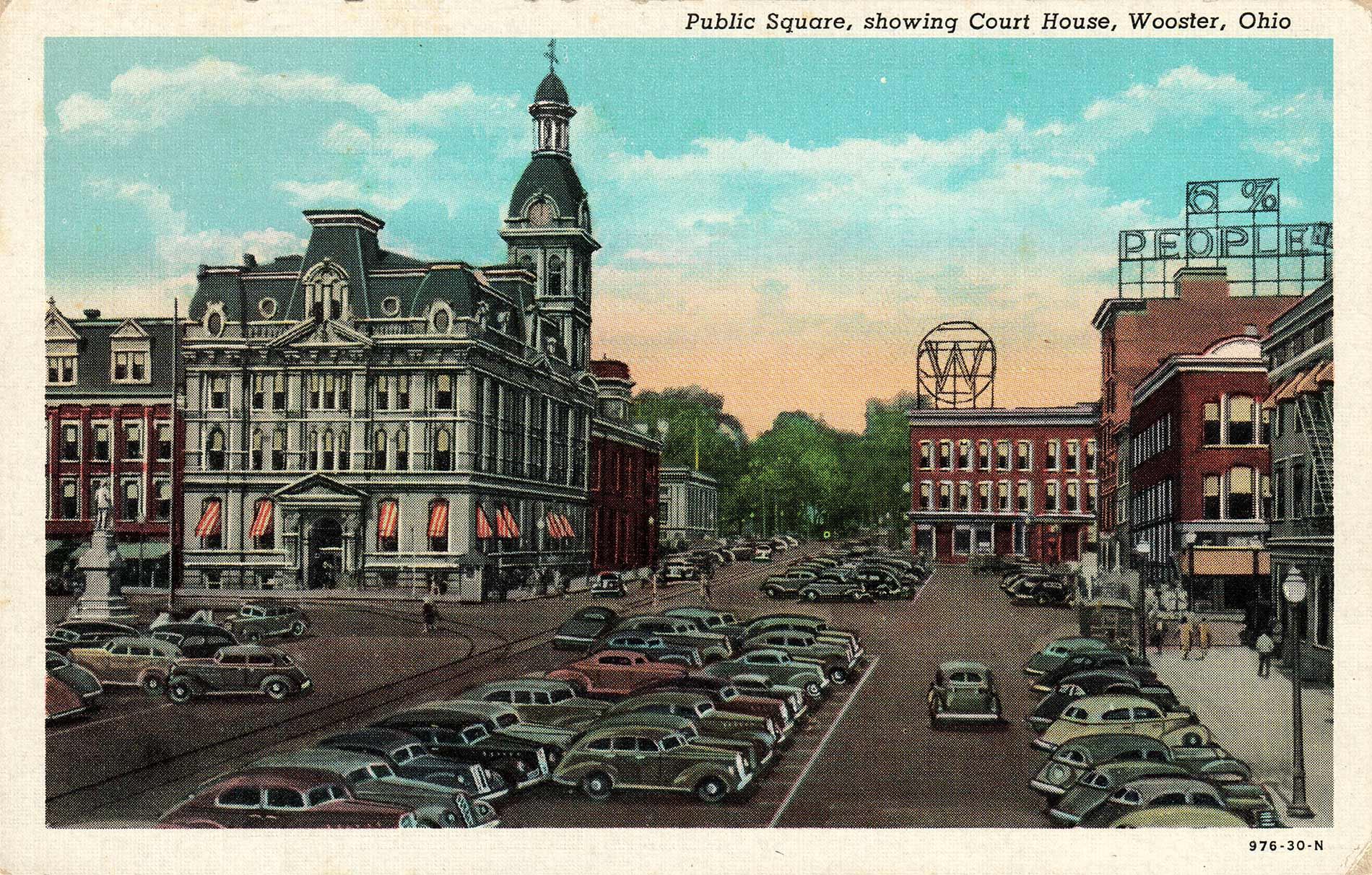 fig. 5 _ Wooster's Public Square in the 1940s