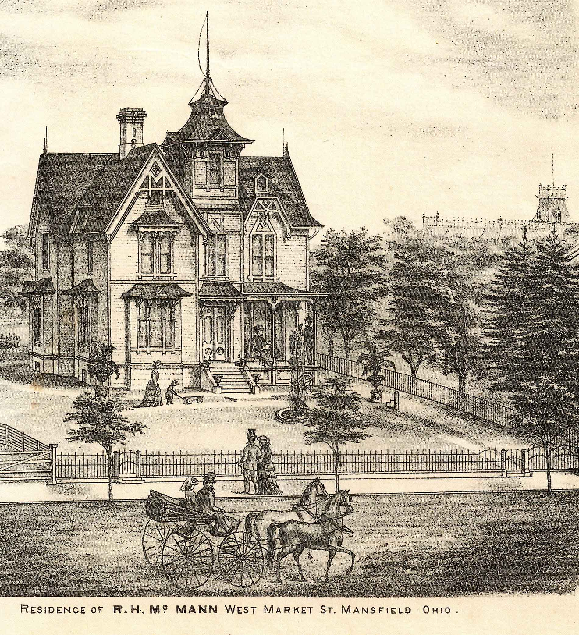 fig. 11 _ Vintage etching of R.H. McMann residence on West Market St.